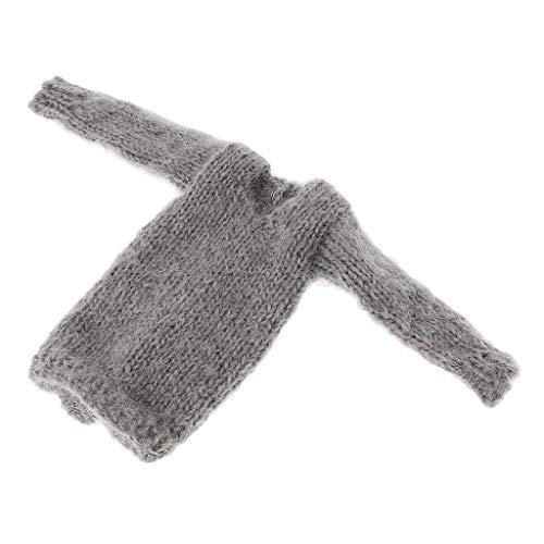 Homyl Handgefertigte Puppenkleidung gestrickt Lange Pullover für 1/6 BJD Mädchen Puppe Dress up - 1