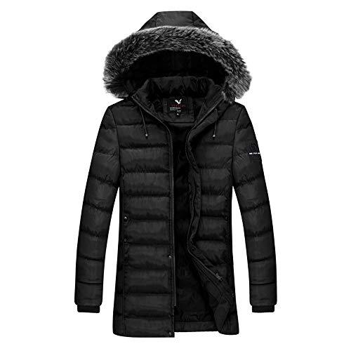 Herren Wolle Graben Lange Mantel, Mode Geschäft Verdicken -