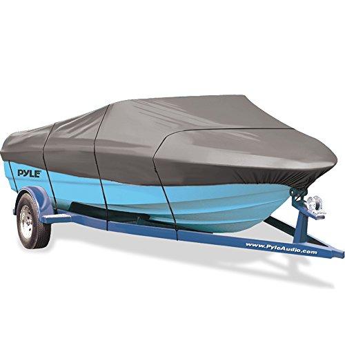 Pyle Armor Shield Boot, wasserdicht Marine Grade 600Denier Polyester für v-Hull Motorboot, ultimative Haltbarkeit, alle Wetter Schutz Universal Fit 14-24Fuß Länge 190,5-294,6cm Beam Breite -