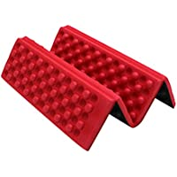 OUNONA A prueba de humedad plegable XPE almohadillas de espuma almohadilla asiento para Camping Picnic Parque (rojo)