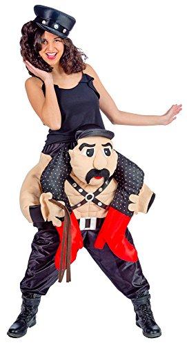 Sado Maso Huckepack Kostüm - Lustiges XL Pick Me Up Aufsitz Kostüm für Karneval, Festival, Junggesellenabschied oder Mottoparty
