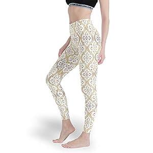Rinvyintte Muster Europäisches MusterDamen Benutzerdefiniert Leggings Workout Yoga Hosen Dünn Capris Tights für LaufenMuster
