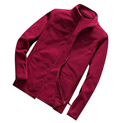 TWBB Herren Warm Pullover Wintermantel Trenchcoat Wollmantel Kurzmantel Vlies Einfarbig Winter Jacke Business Outwer