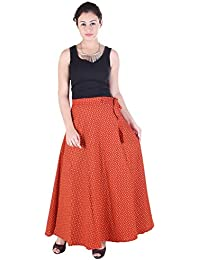 Indi Bargain Cambric Cotton Wrap Around Full Length Skirt (463)