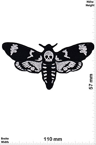 Patch-Iron-Acherontia - Death's-head hawkmoth - Totenkopf Motte - - Oldschool - - Iron On Patches - Aufnäher Embleme Bügelbild Aufbügler (Death Head Patch)