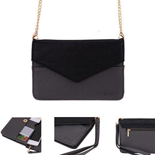 Conze da donna portafoglio tutto borsa con spallacci per Smart Phone per Allview A6Quad A4Duo/A4ALL Grigio grigio grigio