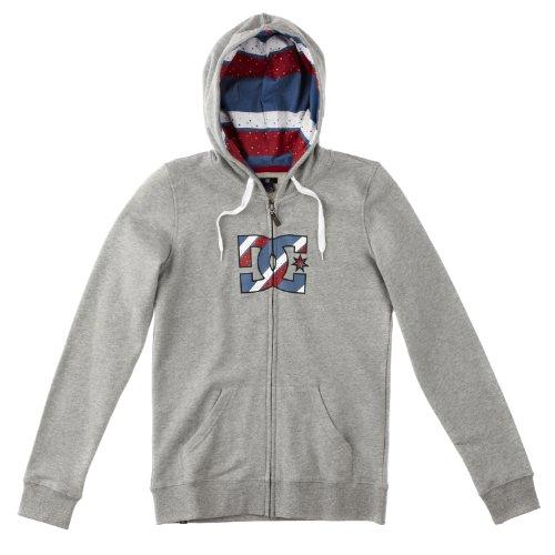 DC Shoes Damen Full Zip Hoodie Terraine, heather grey, 36 (S), D061460066 Dc Full Zip Sweatshirt