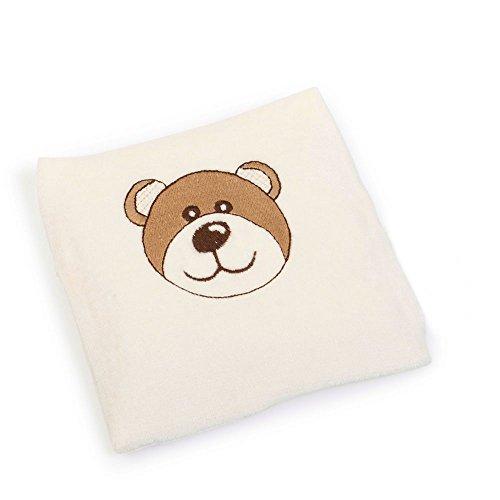 io-Leinsamenkissen Natur-Pur für Babys, Bär, circa 13 x 13 cm ()