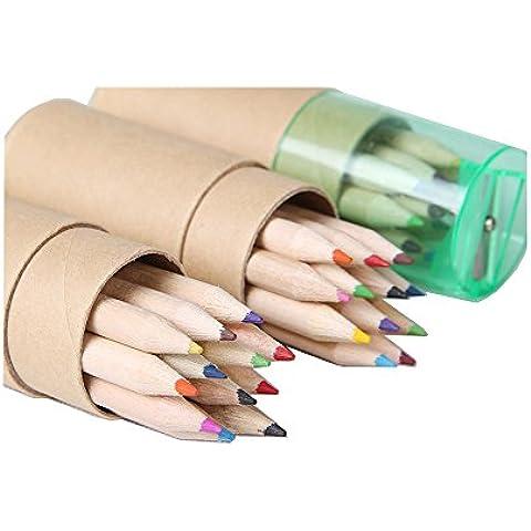 Upeffeet Convent Matite colorate per i bambini (confezione di 12 matite)