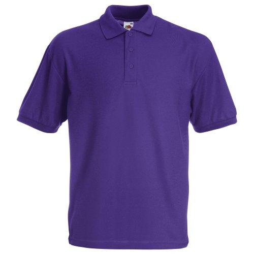 Fruit of the Loom Herren Poloshirt Purple