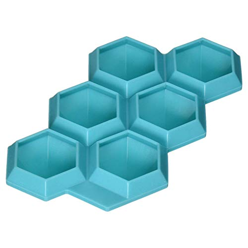 Wokee Silikon Diamond Eiswürfelform für 6 Ice Cube Maker, für Whiskey und Cocktails
