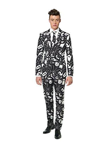 Generique - Schwarz Weißer Suitmeister Anzug für Herren Halloween ()