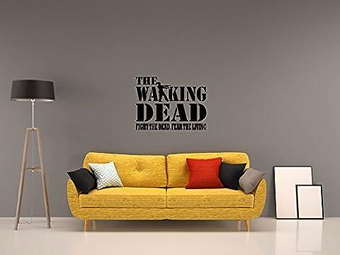 THE WALKING DEAD - FIGHT THE DEAD - Schwarz - ca. 80 x 60 cm