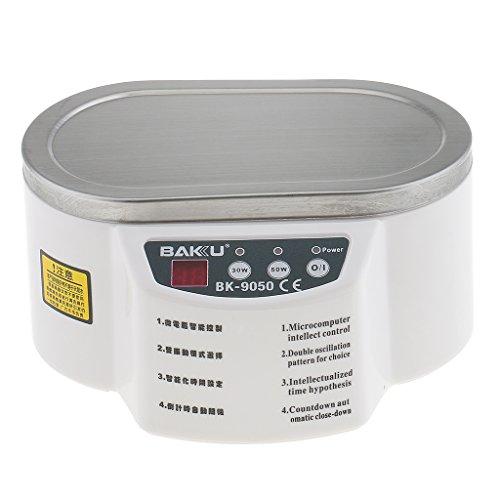 Gazechimp Machine à Nettoyer Nettoyage à Ultrasons pour Prothèses Lunettes CD Bijoux Brosse à Dents Articles Dentaires - 560ml - blanc