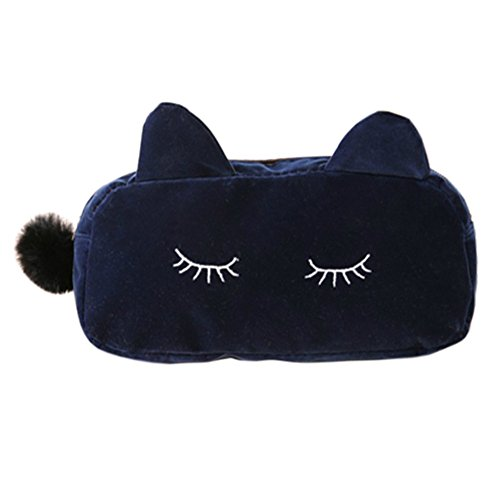 Style coréen Sac cas cosmétique de maquillage waterproof Beauty Case Cat Marine
