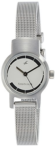 Fastrack Analog Silver Dial Women\'s Watch-2298SM01