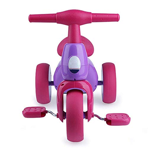 Yyqt Triciclo for Bambini in Bicicletta, Gonfiabile Walker, Auto for Bambini, Triciclo, a Mano spingendo Biciclette (Color : Red)