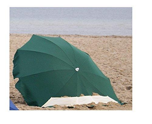 EXPLORER Strandmuschelschirm Ø 240cm UV80+ Sonnenschutz Sonnensegel Strand Camping Outdoor Garten...