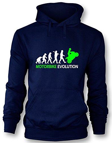 Angry Shirts Motorbike Evolution - Herren Hoodie in Größe XXL Ride Herren Pullover