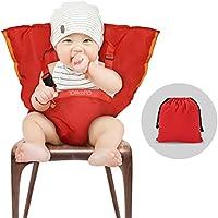 YOHOOLYO Chaise Nomade Bébé Chaise Haute Portable pour Sécurité de Bébé et Alimentation Facile Rouge