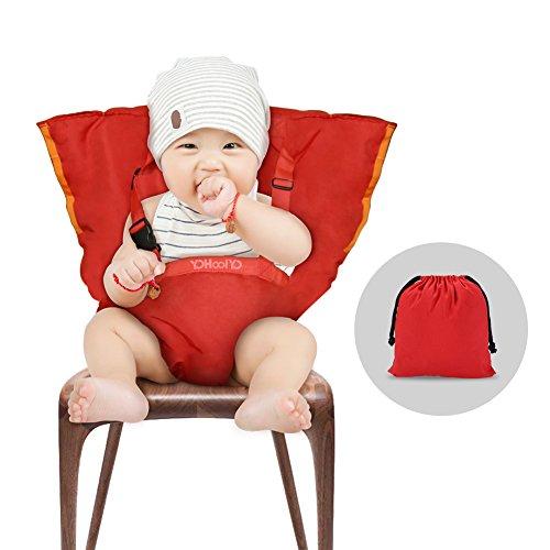 YOHOOLYO Chaise Nomade Bébé Chaise Haute Portable pour Sécurité de Bébé et Alimentation Facile...
