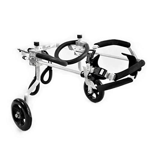 Verstellbarer Hunderollstuhl, 2-Rad für die meisten Hunde 0-60 kg Tierärztlich zugelassener Rollstuhl für Hinterbein Haustier/Katzenhund-Rollstuhl Hinterbein Rehabilitation Behinderten Hund