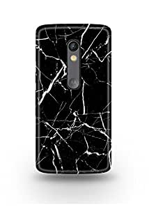 Moto X Play Cover,Moto X Play Case,Moto X Play Back Cover,Black & White Marble Moto X Play Mobile Cover By The Shopmetro-12350