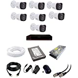 CP Plus 2.4 MP HD CCTV Camera, 4 Ch. HD DVR, 7 Bullet Camera, 1 TB Hard Disk, 4 CH Power Supply, 90 Mtr Wire Bundle, BNC And DC Connectors (2 Year Warranty)