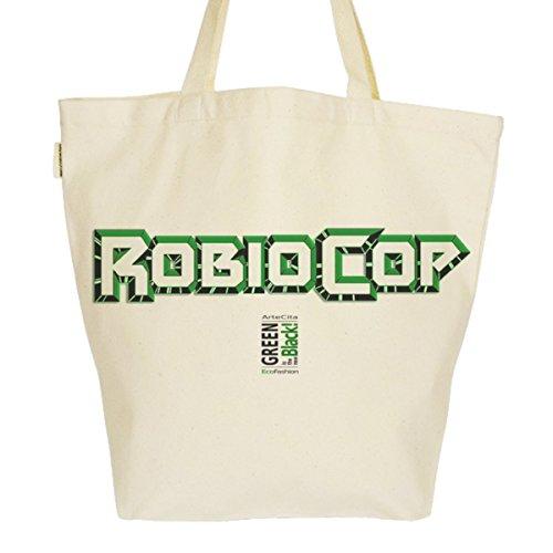 Grand Sac Cabas Fourre-tout Imprimé Toile Bio 37x45x20cm Tote Bag XL - Robiocop