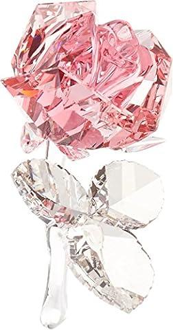Swarovski 5094612 Blossoming Rose Home Decor Light Rose4.2x 7.9 x 4.6cm