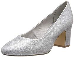 Tamaris Damen 1-1-22458-22 919 Pumps, Silber (Silver Glam 919), 37 EU