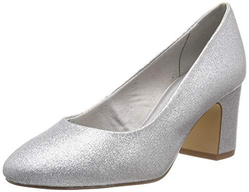 Tamaris Damen 1-1-22458-22 919 Pumps, Silber (Silver Glam 919), 37 ()