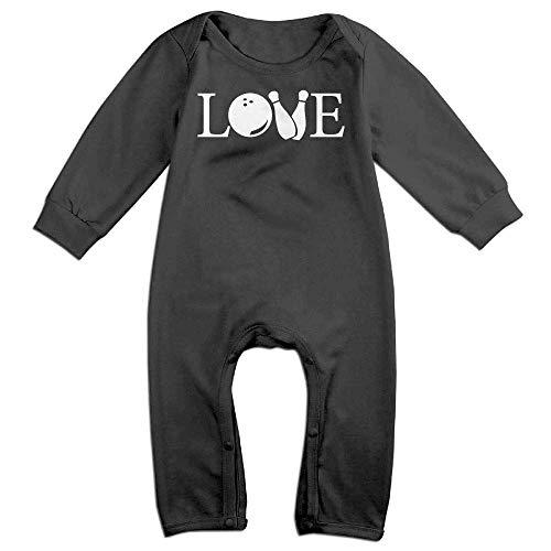 TOPDIY Love Bowling Long Sleeve Baby Romper Jumpsuit Onsies Bodysuit