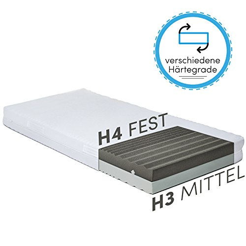 CozyFlex 7-Zonen Kaltschaum-Matratze – 2 in 1 Liegehärten durch einfaches Wenden (H3 & H4) – alle Größen erhältlich – Für alle Schlaftypen geeignet – OEKO-TEX 100 – Made in Germany (140 x 200 cm)