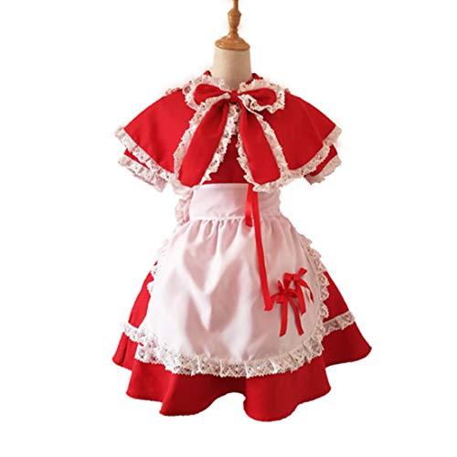 Kostüm Sie Ihre Armee Machen Eigenen - YKJ Anime Spiel Rotkäppchen Schürze Gothic Kleid Machen Kostüme Halloween Halloween Cosplay Kostüme,Red-L