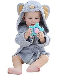 vlunt-pet Super bébé animal serviette de plage Peignoir de bain à capuche en coton absorbant en coton bio bébé fille & garçon doux, Brosse pour bébé de 0à 12mois