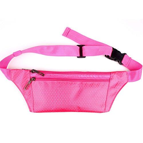 ZYT Multifunktionale Taschen Sport persönlichen Handy Taschen Taschen Pocket Männer und Frauen outdoor-Freizeit rose red