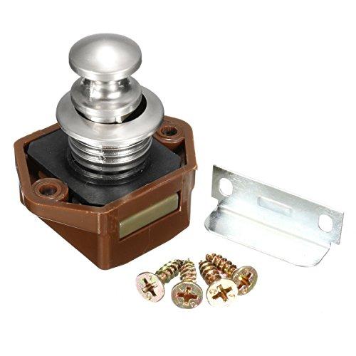 Schrank Mailbox Cam Lock Push Button Catch Door Lock Latch Knauf für Wohnwagen Wohnmobil Boot Tür -