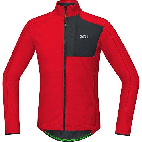 GORE Wear Atmungsaktives Herren Langarmtrikot, C5 Thermo Trail Jersey, XL, Rot/Schwarz, 100373 Trail Thermo