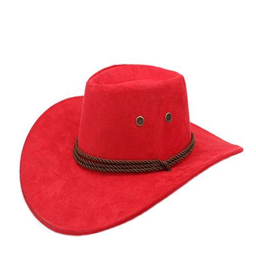 (Sommer Outdoor-Hüte/Cowboy-Hut/ Männliche und weibliche Jazzhut/ Reitkappe/Visier/Strohhut/Großer Strand Hüte-B One Size)