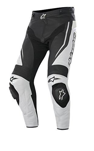 Alpinestars Track Motorradlederhose 15, Farbe schwarz-Weiss, Größe 46