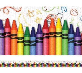 Layered-Look Border Crayons by Edupress