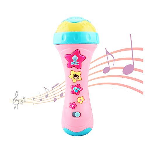 Ellien Mikrofon für Kinder, Kinder mikrofon mit Long-Recording & Voice Change, Musik Karaoke Spielzeug und Tragbares Karaoke Zuhause KTV mit Gesang für Jungen und Mädchen (Gelb)