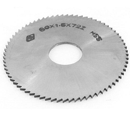 DealMux 1,5 mm Espesor 60 mm OD 72T HSS circular de corte longitudinal de hoja de sierra
