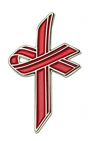 The Red Ribbon Awareness Cross -