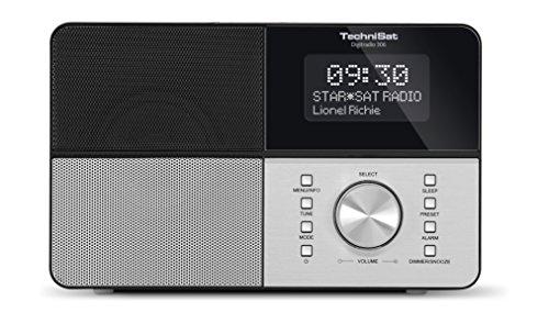 TechniSat DIGITRADIO 306 / Digital-Radio, DAB+, UKW, Favoritenspeicher, Wecker, beleuchtetes Display, Uhr und Datumsanzeige, schwarz