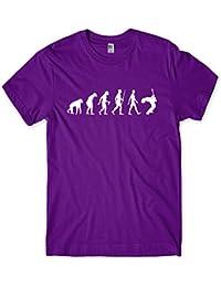 Evolution of a Guitarist Mens Guitar Player T-Shirt Gift (X-Large, Purple)