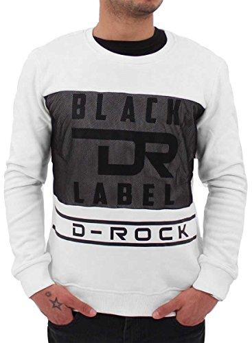 D-Rock 1967 Herren Sweatshirt Gr. Large, gebrochenes weiß (Rock Abercrombie)
