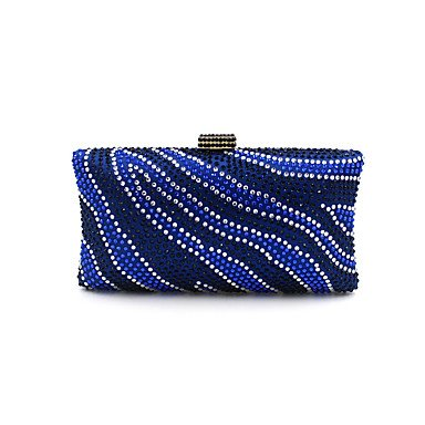 pwne L. In West Woman Fashion Luxus High-Grade Zebra Stripe Heißen Bohren Abend Tasche Blue