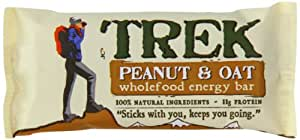 Trek Peanut and Oat Wholefood energy Bar 68 g (Pack of 12)